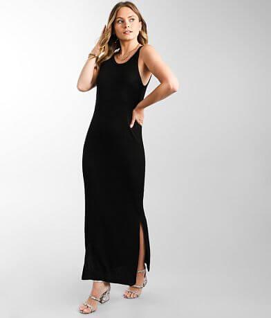 Double Zero High Neck Ribbed Maxi Dress