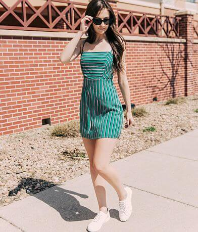 FAVLUX Striped Spaghetti Strap Dress