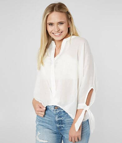 FAVLUX Button Down Dolman Blouse