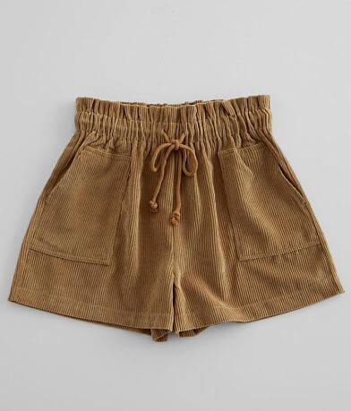 FAVLUX Corduroy Paperbag Short