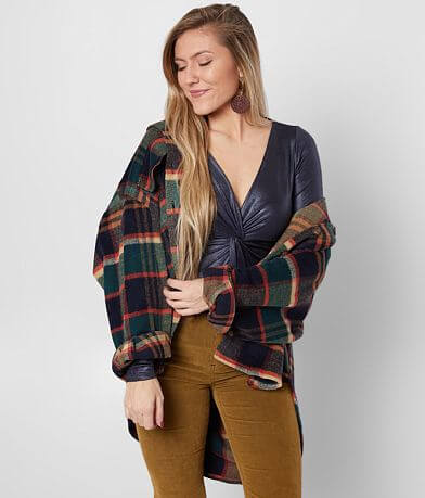 FAVLUX Oversized Flannel Jacket