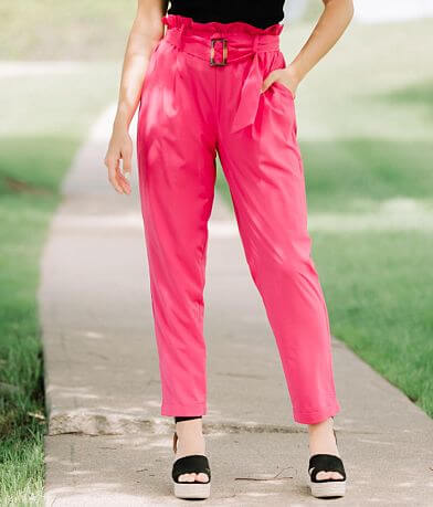 FAVLUX Belted Paperbag Cuffed Pant
