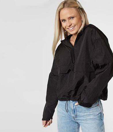FAVLUX Pullover Hooded Windbreaker Jacket