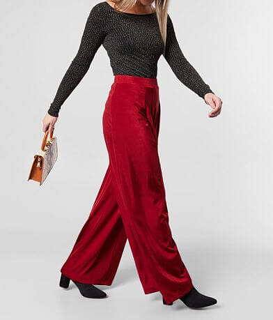 FAVLUX Satin Wide Leg Stretch Pant