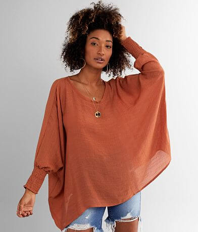 FAVLUX Poncho-Inspired Dolman Top