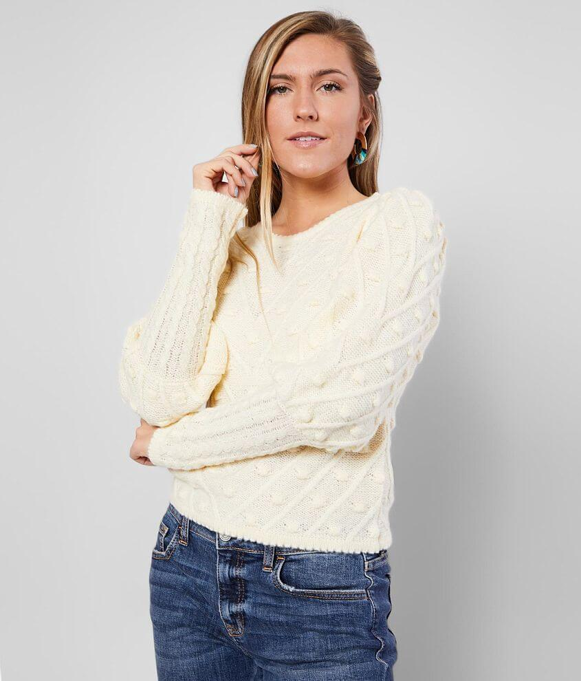 FAVLUX Bobble Pullover Sweater front view