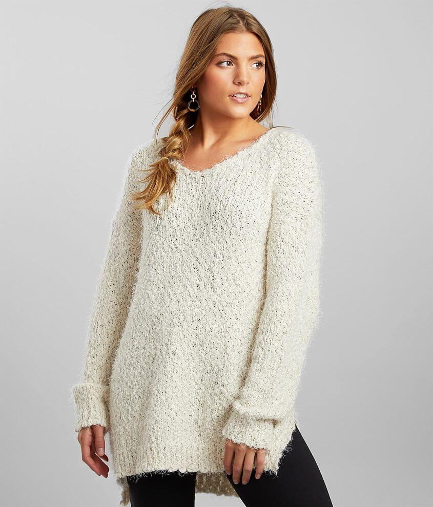 Hyfve Pulled Eyelash Knit Sweater front view