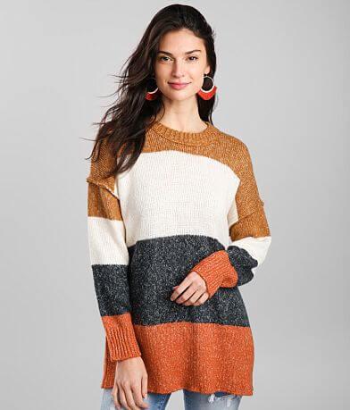 Hyfve Multi Striped Tunic Sweater