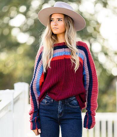 Hyfve Striped Boat Neck Sweater