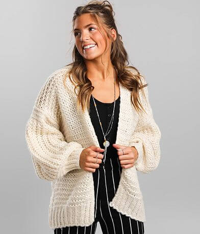 Hyfve Shaker Stitch Cardigan Sweater