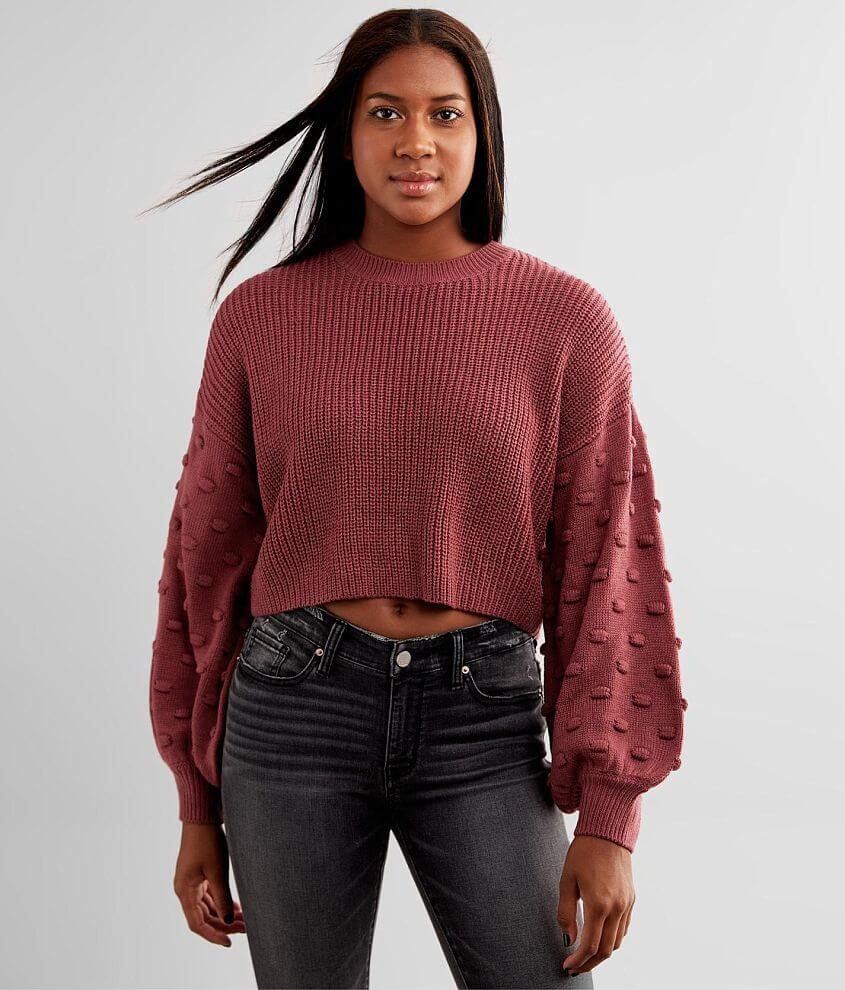 Hyfve Bobble Cropped Sweater front view