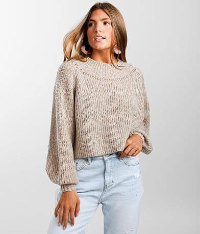 Hyfve Balloon Sleeve Cropped Sweater