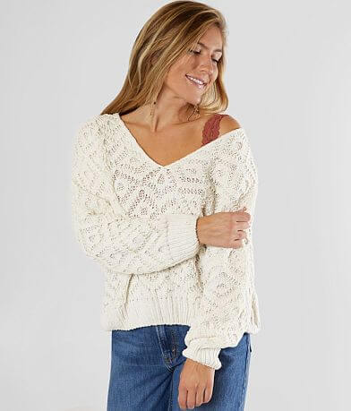 FAVLUX Double V-Neck Chenille Sweater
