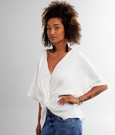 Remixness Twisted Surplice Top