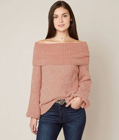 onetheland Off The Shoulder Sweater