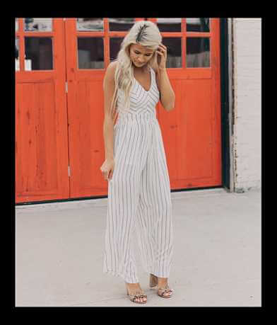 Hyfve Striped Wide Leg Romper