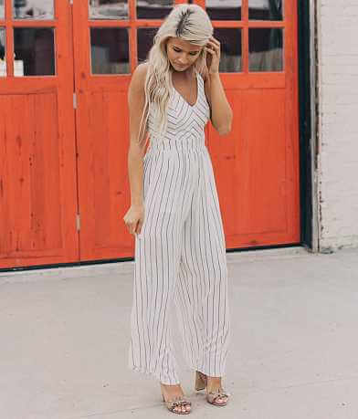 Hyfve Striped Wide Leg Jumpsuit