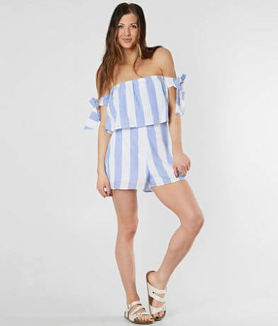 Hyfve Strapless Striped Romper