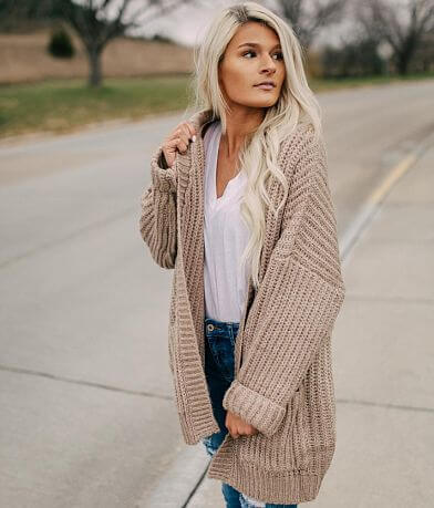 Fashion On Earth Chunky Knit Cardigan Sweater