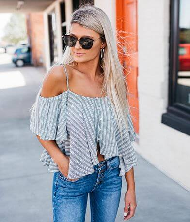 Fashion On Earth Cold Shoulder Top