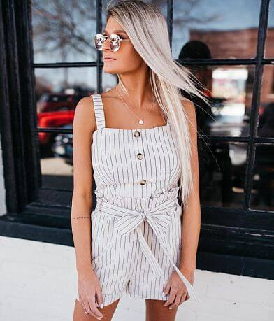 Fashion On Earth Two Piece Striped Short Set