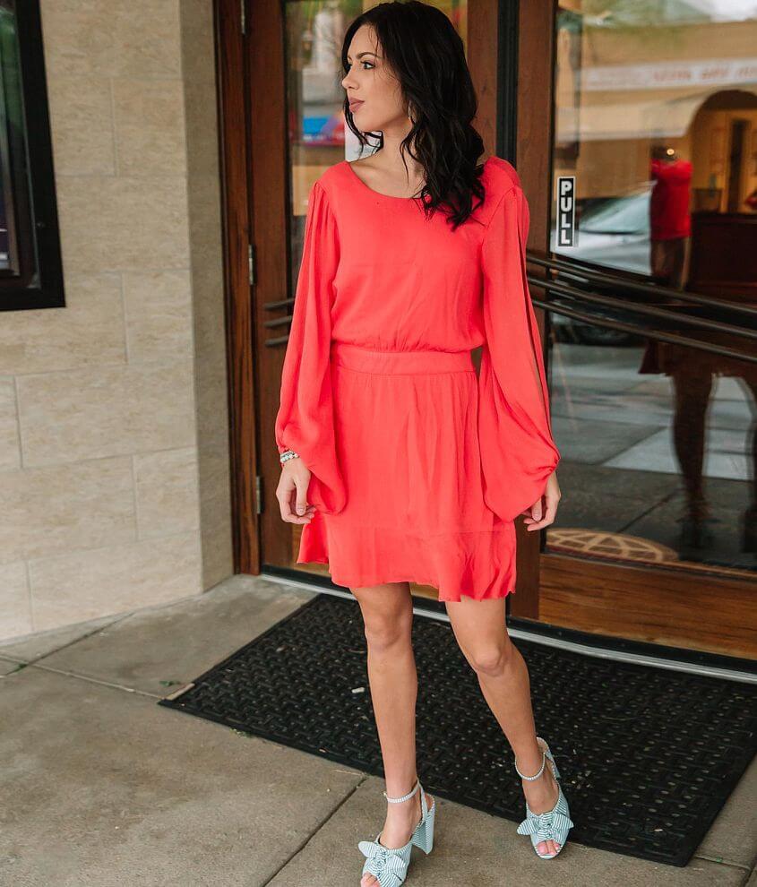Hyfve Cold Shoulder Ruffle Dress front view
