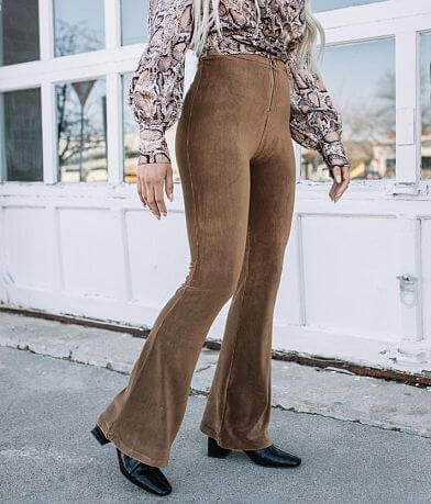 Fashion On Earth Velvet Corduroy Flare Pant