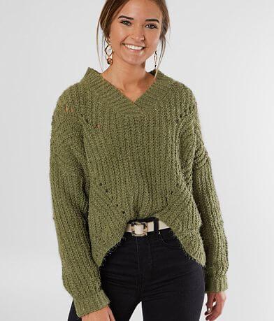 Fashion on Earth Plush Yarn Cropped Sweater