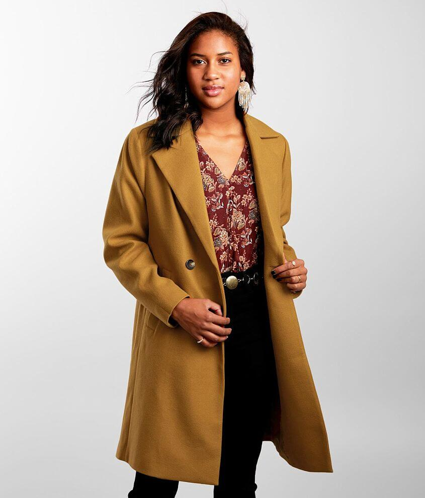 Hyfve Solid Trench Coat front view