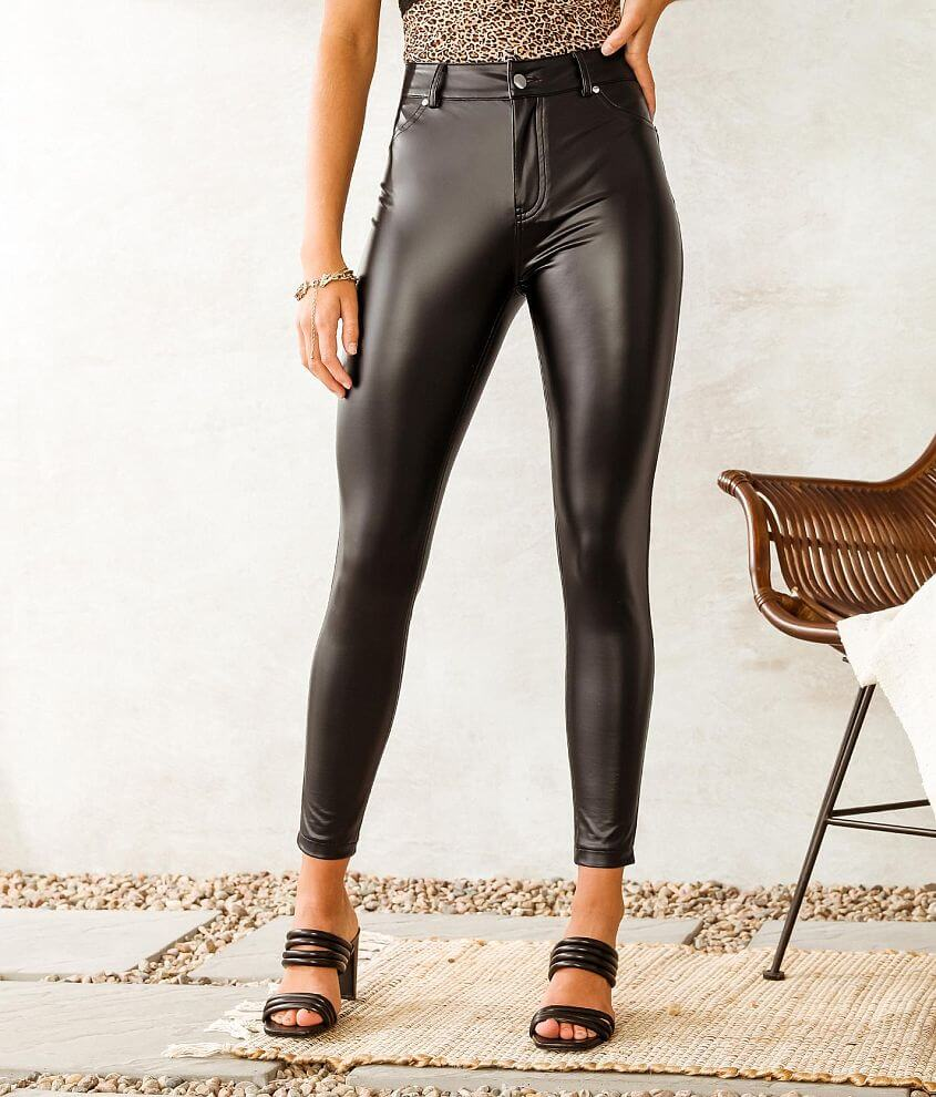 Hyfve High Rise Skinny Faux Leather Pant front view