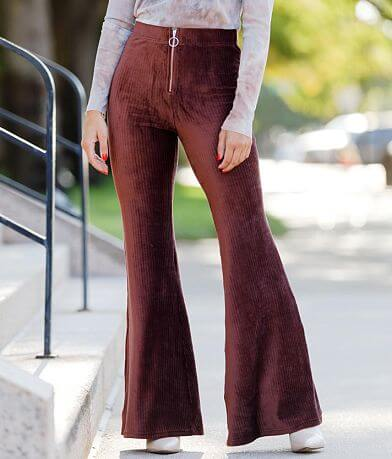 Willow & Root Ribbed Velvet Flare Pant