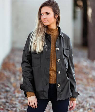 Hyfve Faux Leather Shacket