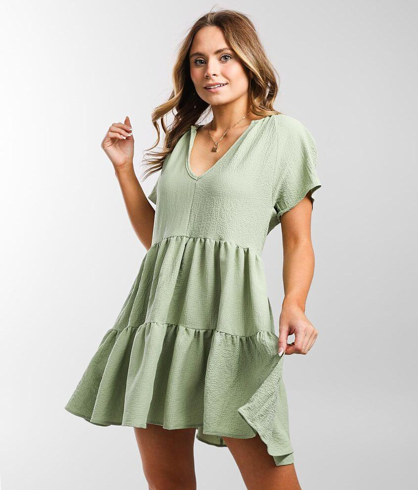 Hyfve Notched Collar Babydoll Dress front view