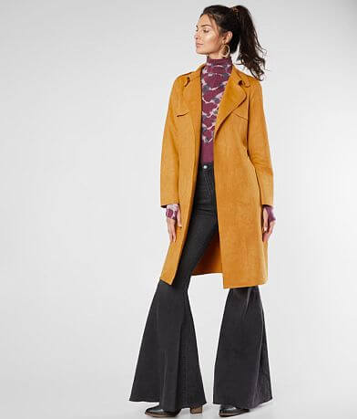 Hyfve Faux Suede Trench Jacket
