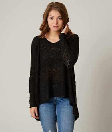 blush noir Open Weave Sweater