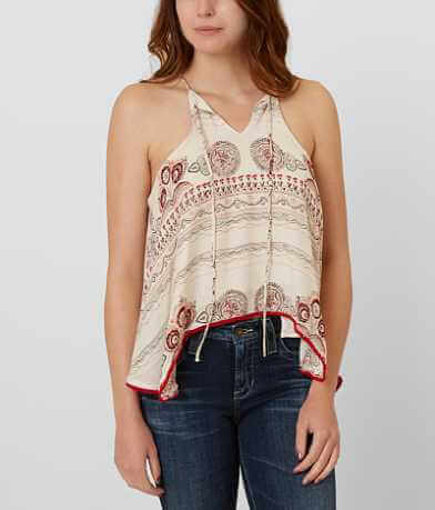 blush noir Printed Tank Top