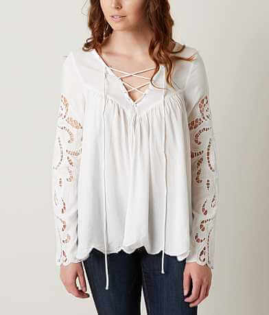 blush noir Embroidered Top