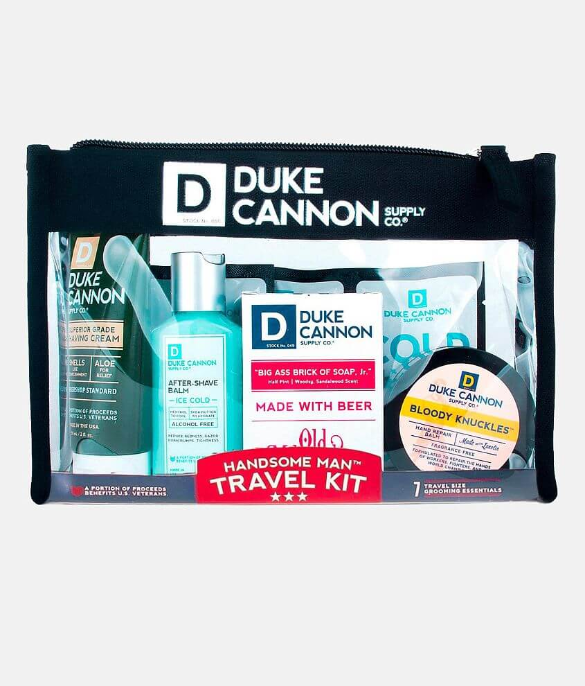 Duke Cannon Handsome Man Travel Kit front view