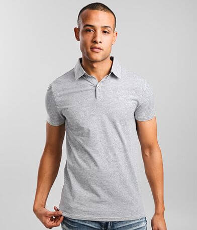 BKE Pinstriped Stretch Polo
