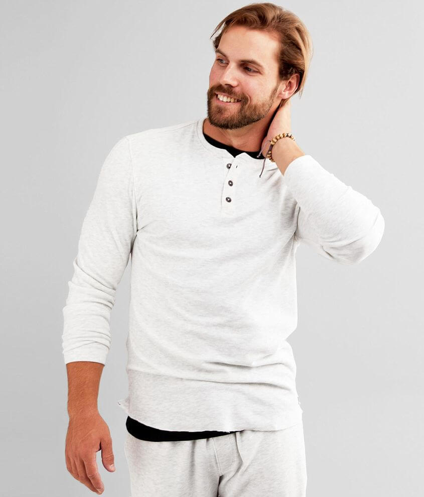 Outpost Makers Brushed Knit Fleece Henley front view