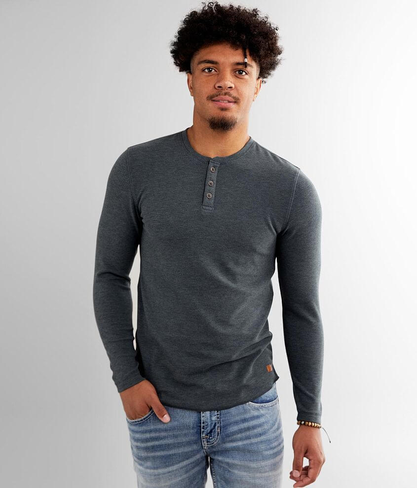 Outpost Makers Brushed Knit Henley front view