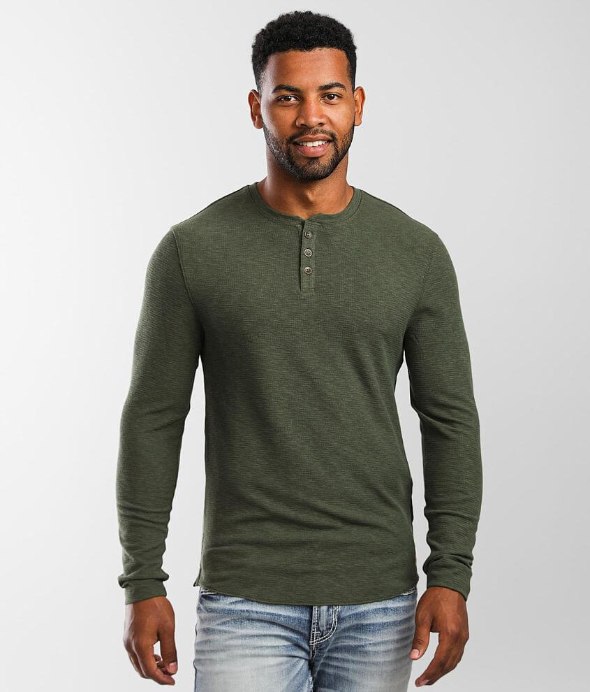 Outpost Makers Textured Knit Henley front view