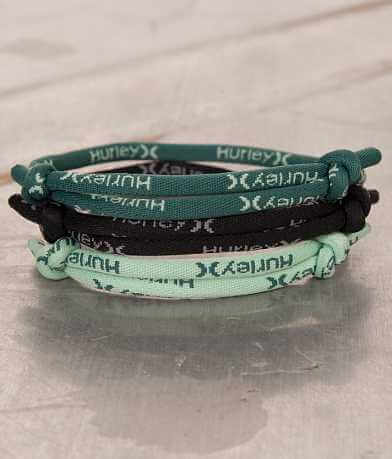 Hurley Leash Rope Bracelet Set
