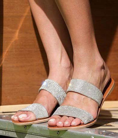 Qupid Strappy Rhinestone Sandal