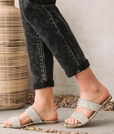 Qupid Hazy Rhinestone Sandal