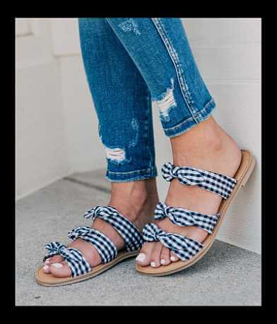Qupid Gingham Sandal