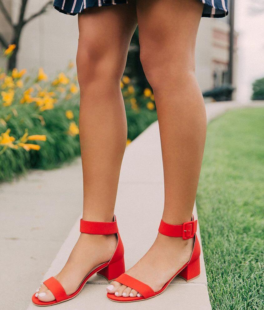 Qupid Katz Heeled Sandal front view