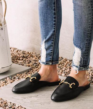 Qupid Regent Loafer Mule Shoe