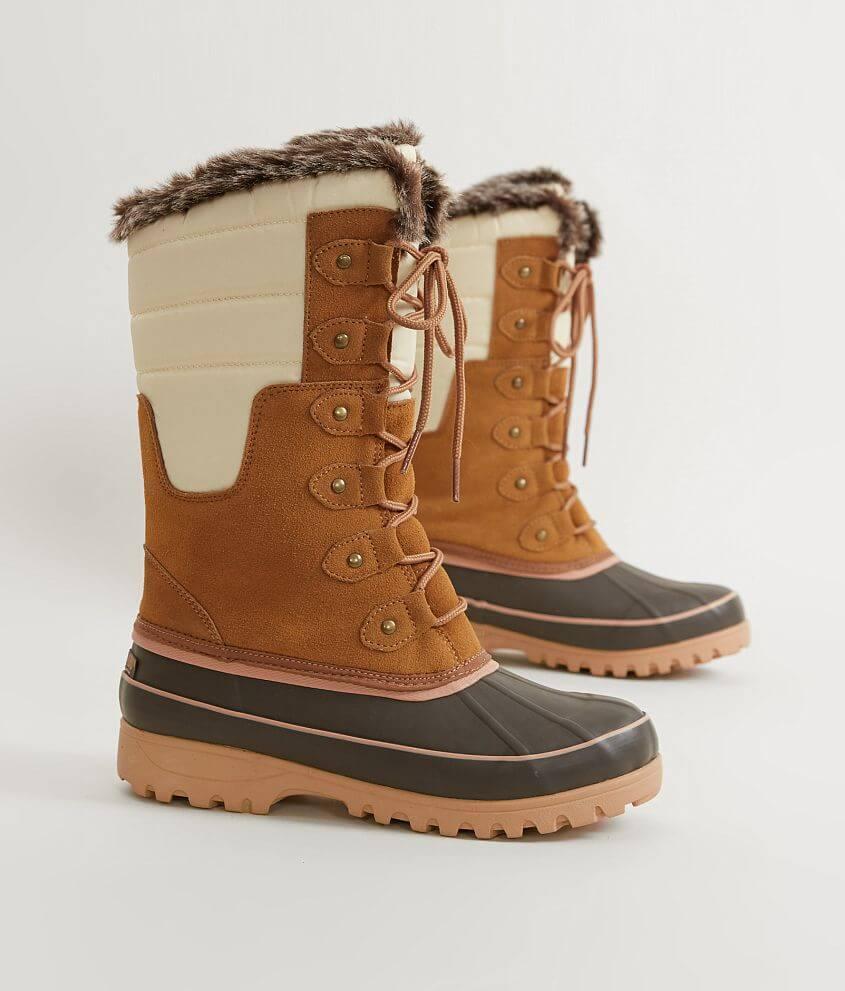Khombu Adeline Leather Duck Boot