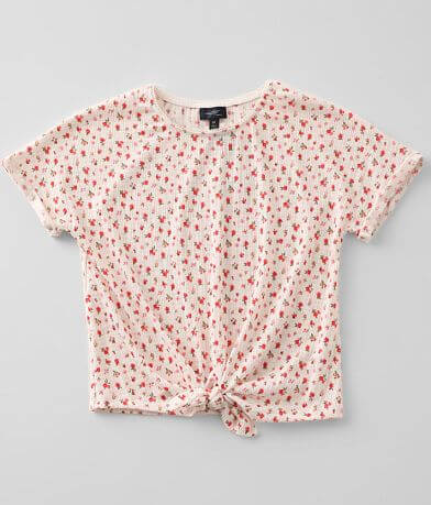 Girls - Daytrip Ditsy Floral Pointelle Top